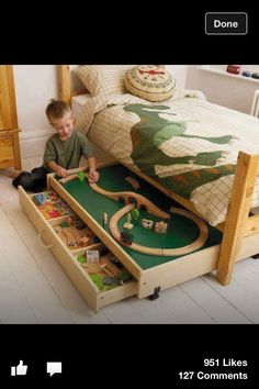 Boys room ideas: I was originally looking for a train table...but this is pretty cool!