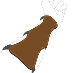 戴在拿弓的前臂,防止被弦彈傷。