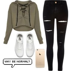 Normal? by babyyfinee30 on Polyvore featuring River Island and Vans
