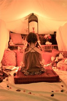The peace tent! Creating a calm space where your kid can read or relax is a must! They love little sanctuary!