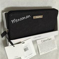 Selling this NWT Calvin Klein Black Genuine Leather Wallet in my Poshmark closet! My username is: mtnoonan. #shopmycloset #poshmark #fashion #shopping #style #forsale #Calvin Klein #Handbags