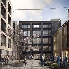 Blossom Street Planning by Duggan Morris Architects Brick Architecture, London Architecture, Architecture Visualization, Mix Use Building, Brick Building, Soho, Duggan Morris, Architects Journal, Warehouse Design