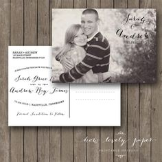 Printable Save the Date Postcard by HowLovelyPaper on Etsy, $10.00