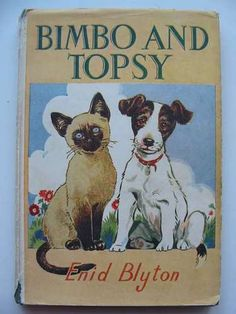 Bimbo and Topsy Blyton Enid Illus by Gee Lucy Vintage Children's Books, Antique Books, Vintage Soul, Book Cover Art, Book Art, Book Covers, I Love Books, New Books, Enid Blyton Books