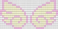 Fairy Kei Wings Perler Bead Pattern / Bead Sprite