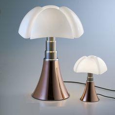 Lampe de table Minipipistrello LED / H 35 cm - Martinelli Luce Copper Lamps, Copper Lighting, Table Led, Light Table, Table Lamps, Interior Lighting, Lighting Design, Retro Interior Design, Floor Standing Lamps