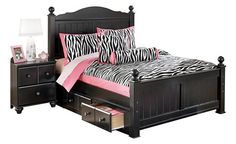 Jaidyn Queen Poster Bed w/ Storage