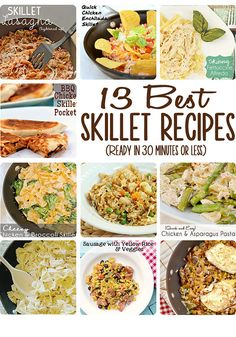 13 Best Quick and Easy Skillet Meals: I will definitely be adding these to my dinner rotation for busy nights!
