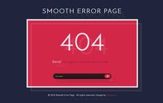 Download Smooth Error Page Flat Responsive Widget Template - FREE