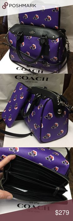💜Coach Set💜 100% Authentic Coach Purse and Wallet, both brand new with tag!.😍😍😍 Coach Bags Crossbody Bags