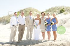 family photos, beach bride wedding at The Mark Twain House by Twiddy in Corolla, NC