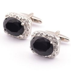 GET $50 NOW | Join RoseGal: Get YOUR $50 NOW!http://www.rosegal.com/men-s-jewelry/pair-of-stylish-black-faux-gem-and-rhinestone-inlay-embellished-cufflinks-for-men-466205.html?seid=6606952rg466205