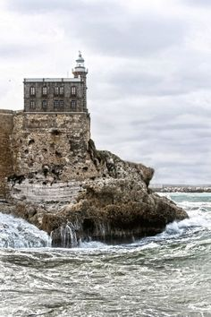 Melilla Lighthouse, Spanish City, Northern Coast of Morocco