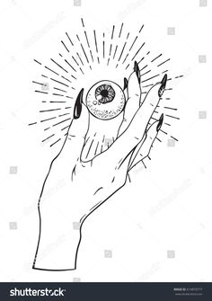 Find Human Eyeball Female Hand Isolated Sticker stock images in HD and millions of other royalty-free stock photos, illustrations and vectors in the Shutterstock collection. Eyeball Drawing, 365 Kawaii, Desenhos Halloween, Tattoo Motive, 7 Tattoo, Witch Tattoo, Arte Sketchbook, Flash Art, Art Drawings Sketches