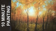 Painting a Fall Forest Landscape in 10 Minutes! A Real Time Acrylic Lesson