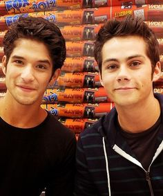 Dylan O'Brien and Tyler posey ❤ I love how they're like BFFs in real life :)