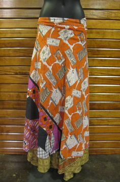 urban nomad wrap skirt made from recycled silk {via earthbound}..I have five, yes 5, of these..now I want this one <3