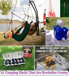 41 Camping Hacks That Are BorderlineGenius  Reasons why camping in the winter is actually better: There are no bugs, the wildlife is in hibernation, and no