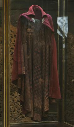 Dr. Strange's cloak of levitation - Only thing that would've made this shot better would be his reflection fitting to the cloak.