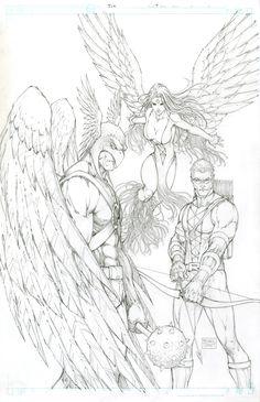 JLA #9 Comic Art