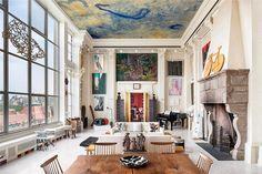 Do teto ao chão, tudo é arte neste loft - Casa Vogue | Interiores