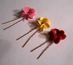 Polymer Clay Flower Hair Pins