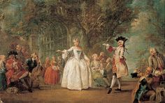Party in a garden Flipart, Charles Joseph Mid-eighteenth century Museo del Prado A group of youth play, accompanied by music in a garden setting. Two of them begin to dance, while others form small...