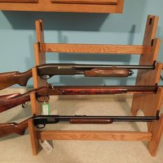 5 Gun Rack, 3 Gun Rack & Single Gun Rack That Will Sit On A  Table Top For Display Purposes At A Fund-Raising Banquet. by Charlie Gunderson