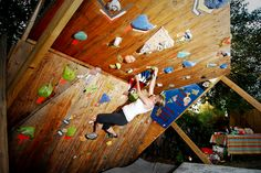 A personal bouldering wall! Yes please!