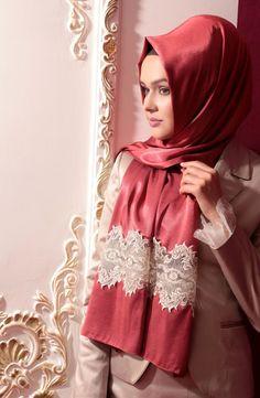 karacabutik, karaca, Neva Style, eşarp, dantel eşarp, lace scarf, women Lace Silk, Beaded Lace, The Dress, High Neck Dress, Hijab Tutorial, Scarf Design, Beautiful Hijab, Scarf Styles, Hijab Styles