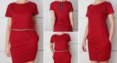 ¡Hola!   El vestido de hoy es una de esas prendas que haces en poco tiempo y que al final te pones hasta aborrecer por lo cómodo que es. A...