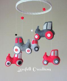Baby Crib Mobile - Custom Baby Mobile - Tractor Mobile