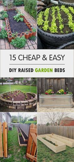 Here are some great DIY Raised Garden Beds for vegetables and other crops, that you can make for your backyard.  #backyardgardening