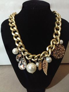 Maxi Chain and pearls necklace