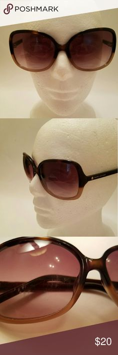 Marc Jacobs Sun Glasses Tortoise shell frames and gold tips on the arms.  The right lenses does have scratches and a couple of minor scratches on the left lense. Marc Jacobs  Accessories Sunglasses