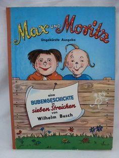 Buch Max und Moritz Pappcoverbuch Pestalozzi 4085 Kinderbuchklassiker alt