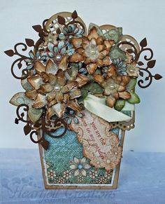 Heartfelt Creations | Distressed Florals Flower Pot