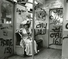 Photograph by fashion photographer Bill Cunningham. See more images of vintage New York by Cunningham at http://blog.lelaluxe.com.   The New York Historical Society is having an amazing exhibit, showcasing 88 of Cunningham's images taken from a project he titled Façades.  More info at blog.lelaluxe.com