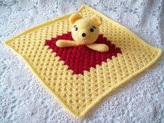 WINNIE the POOH Inspired Lovey Security Blanket Snuggle Snuggie Blankie Red…