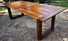 Reclaimed Wood Conference or Farm Dining Table by RefabWood, $1500.00