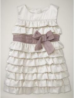 Tiered ruffle baby girl dress.