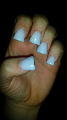 Simple & Classic Off White Flare Nails #flare