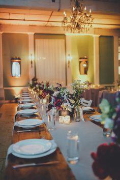 indoor ballroom reception, photo by Amber Gress http://ruffledblog.com/long-island-city-wedding #weddingreception