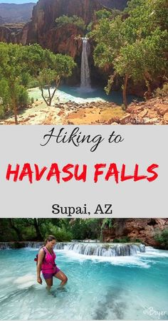 Hiking to Havasu Falls, Arizona. Great tips for a desert hike into the Grand Canyon. Travel Hacks, Travel Tips, Nice Ideas, Mountaineering, Us Travel, Deserts, Arizona, Hiking, Outdoor Decor