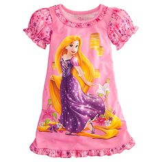 Shop for Disney pajamas, nightgowns and nightshirts for girls. Favorite characters like Disney Princesses, Minnie Mouse and Tinker Bell make bedtime fun. Disney Princess Costumes, Disney Rapunzel, Princess Rapunzel, Princess Girl, Disney Girls, Tangled Rapunzel, Princess Disney, Girls Sleepwear, Girls Pajamas