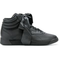 Reebok Freestyle Hi Satin Bow sneakers (€140) ❤ liked on Polyvore featuring  shoes