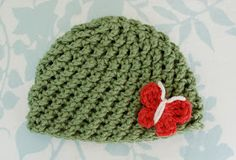 Alli Crafts: Free Crochet Pattern: Crossed Texture Hat - Newborn