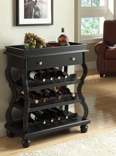 Cecilia Black Wine Rack