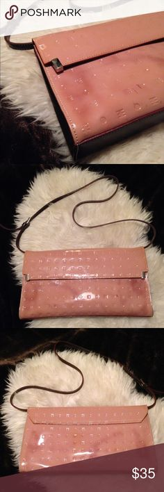 ✨Arcadia Yummy Leather Shoulder Bag✨ Gorgeous patent leather shoulder bag. Used condition-blemishes and discoloration on outside of bag (as shown in pics), some other slight wear (price reflects). In otherwise still in good condition. ARCADIA Bags Shoulder Bags