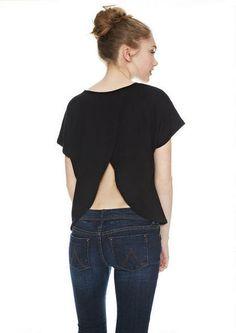 Cori Envelope Back Short-Sleeve Top - Tops - Clothing - dELiA*s
